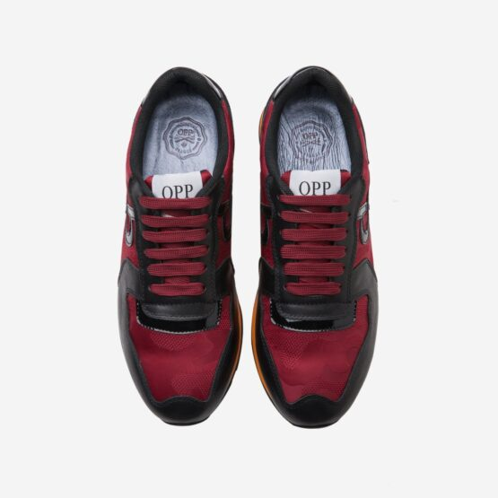 Lace-Up Sneakers Red - Top Sneakers - OPP Official Store (OPP France)