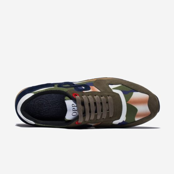 Lace-Up Suede Sneakers Tibetan Green - Top Sneakers - OPP Official Store (OPP France)