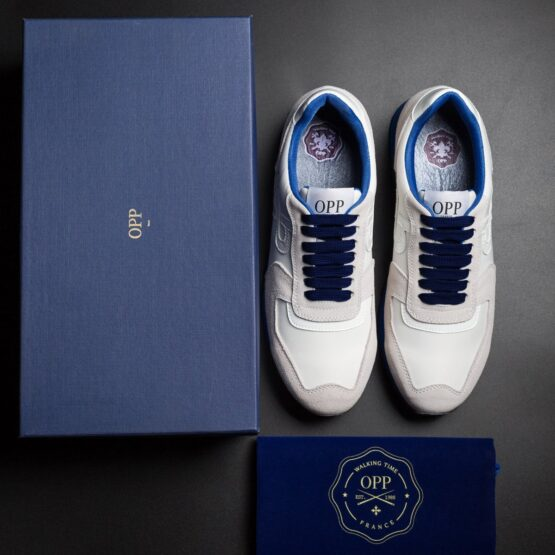 Lace-Up Suede Sneakers White - Top Sneakers - OPP Official Store (OPP France)